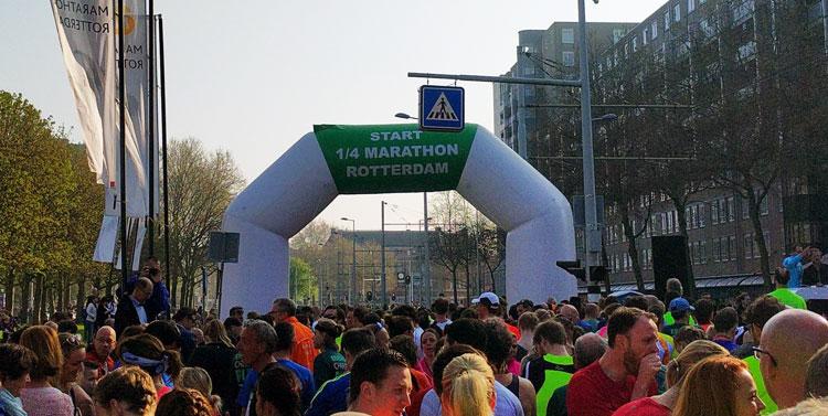 Start 1/4 marathon Rotterdam